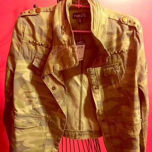 Girl's Stylish Army Green Jacket